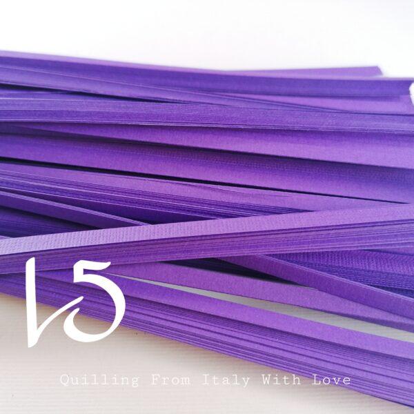 strisce di carta per quilling in cartoncino 220gr in tonalità lilla