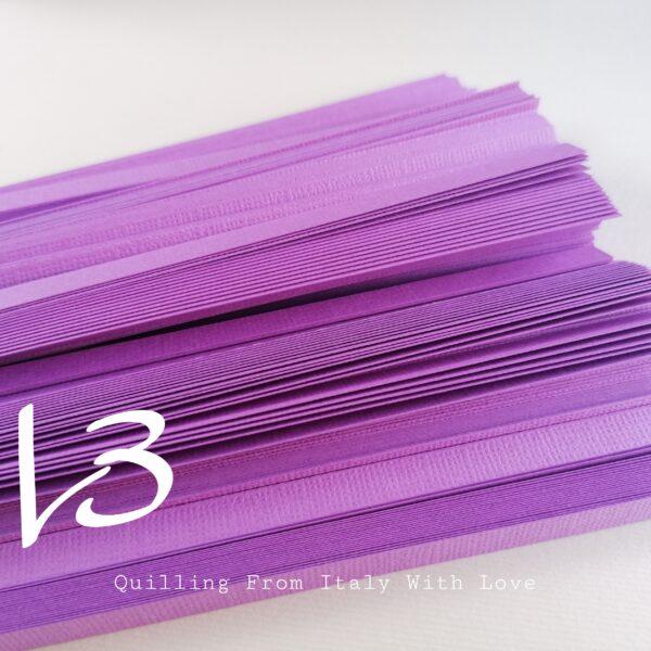 strisce per quilling in cartoncino lilla 220gr